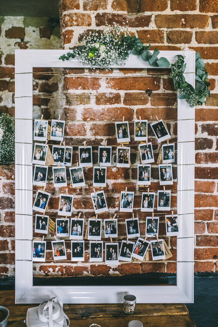 Polaroids as a guest-book